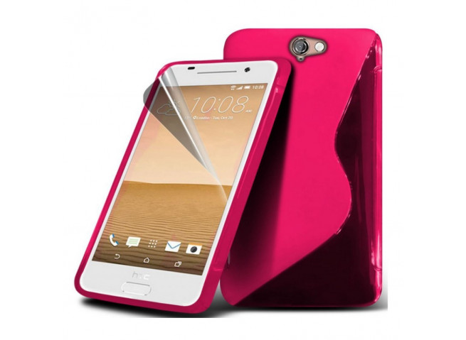 Coque HTC One A9 Silicone Grip-Rose