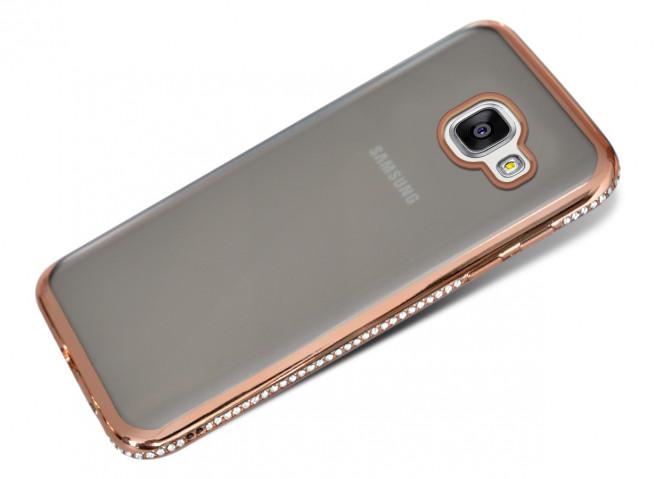 c180369f07ba8 Coque Samsung Galaxy A5 2016 Rose Gold Flex Strass