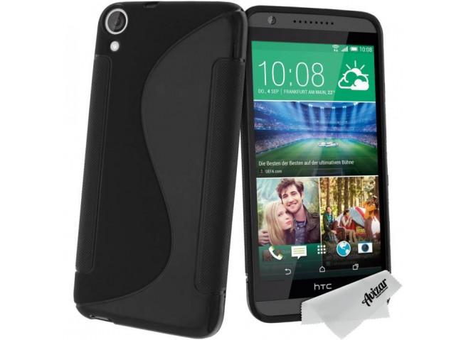 Coque HTC Desire 820 Silicone Grip Noir