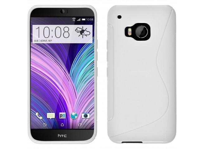 Coque HTC One M9 Silicone Grip-Blanc