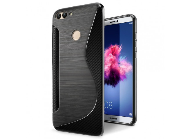 Coque Huawei P Smart Silicone Grip-Noir