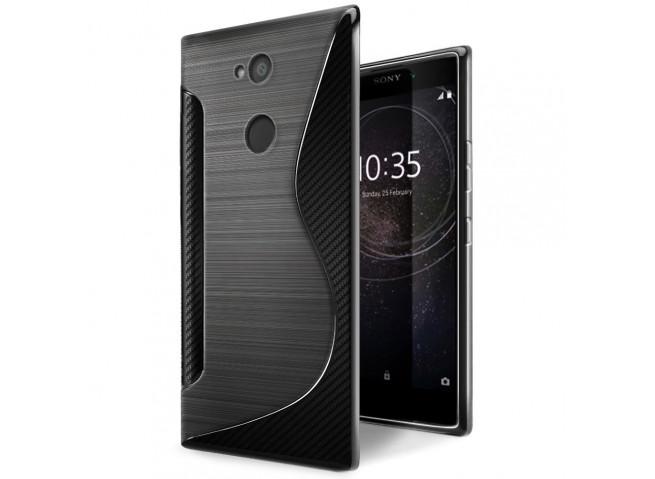 Coque Sony Xperia L2 Silicone Grip-Noir