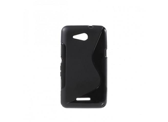 Coque Sony Xperia E4G Silicone Grip-Noir