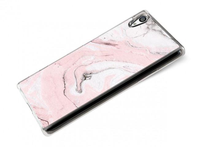Coque Sony Xpéria Z5 Effet Marbre- Rose