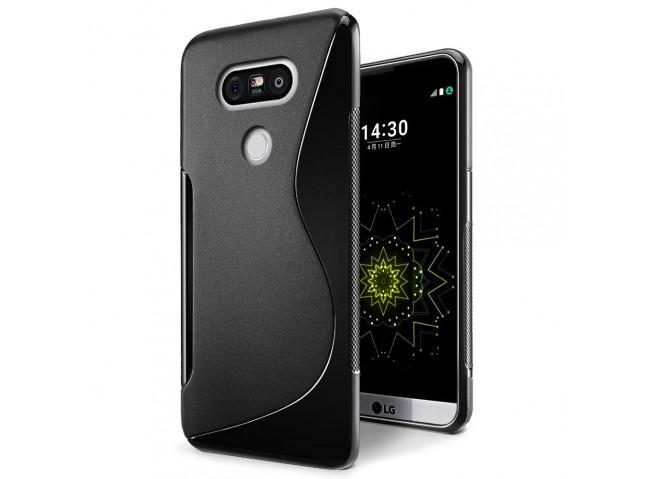 Coque LG G6 Silicone Grip-Noir
