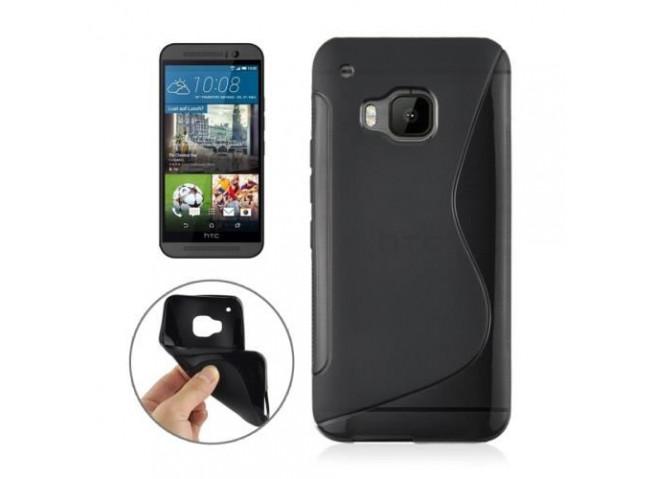 Coque HTC One M9 Silicone Grip-Noir