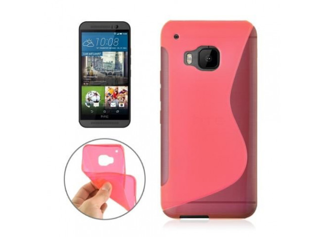 Coque HTC One M9 Silicone Grip-Rose