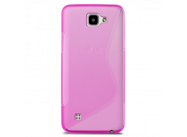 Coque LG K4 Silicone Grip-Rose