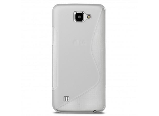 Coque LG K4 Silicone Grip-Translucide
