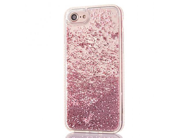 Coque iPhone X Liquid Pearls-Rose