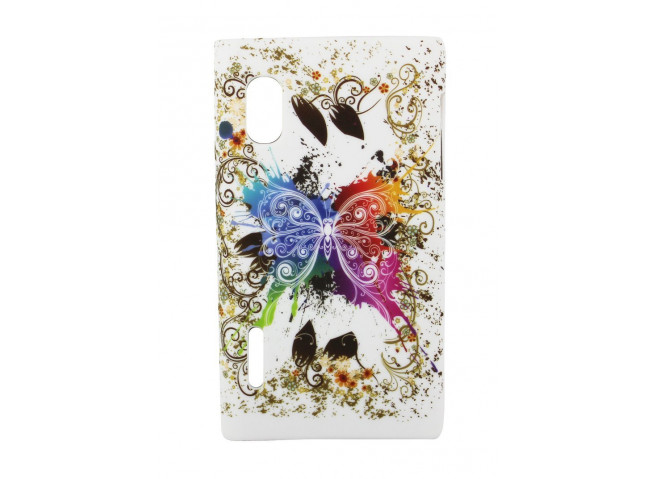 Coque LG Optimus L5 Rainbow Butterfly