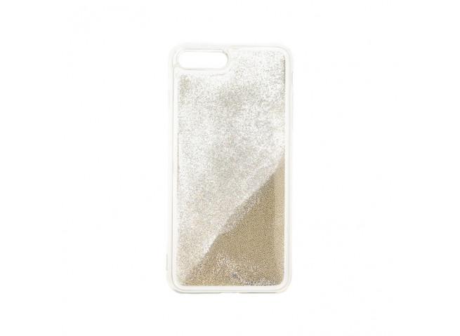 Coque iPhone 7 Plus/ iPhone 8 Plus Liquid Pearls-Argent