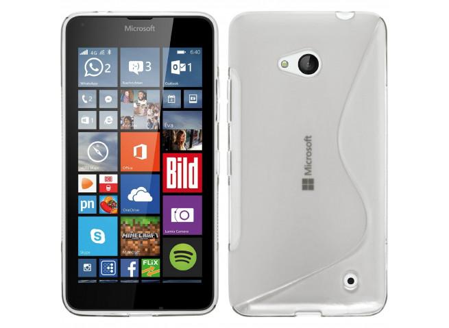 Coque Microsoft Lumia 640 Silicone Grip-Translucide