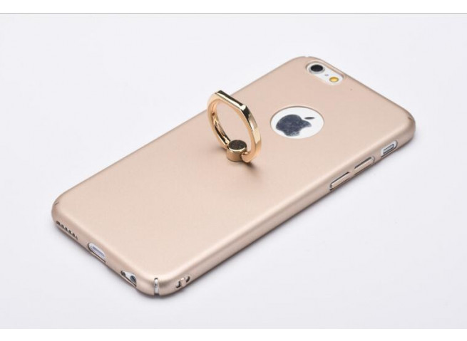 zz pc phone case with ring for iphone gold 1