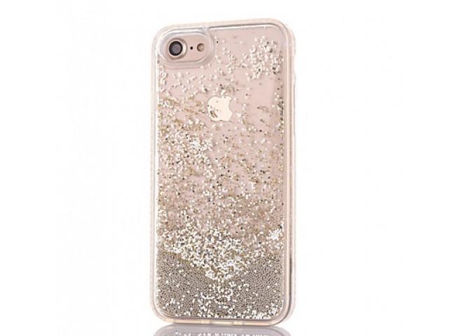 Coque iPhone X Liquid Pearls-Argent