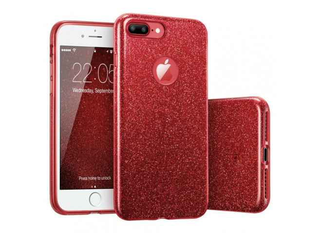 Coque iPhone 7 Plus / iPhone 8 Plus Glitter Protect Rouge