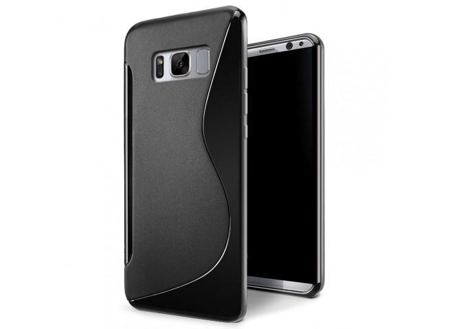 Coque Samsung Galaxy S8 Silicone Grip-Noir