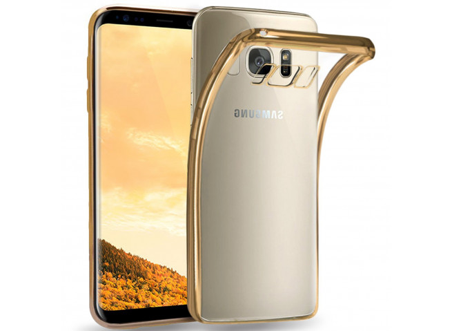 Coque Samsung Galaxy A8 2018 Gold Flex