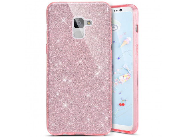 Coque Samsung Galaxy Note 9 Glitter Protect-Rose