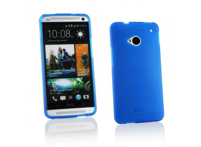 Coque HTC One M7 Silicone Opaque-Bleu