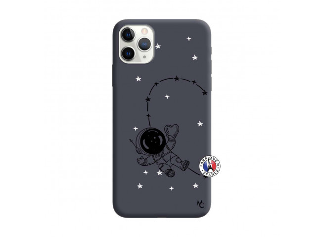 Coque iPhone 11 PRO MAX Astro Girl Silicone Navy
