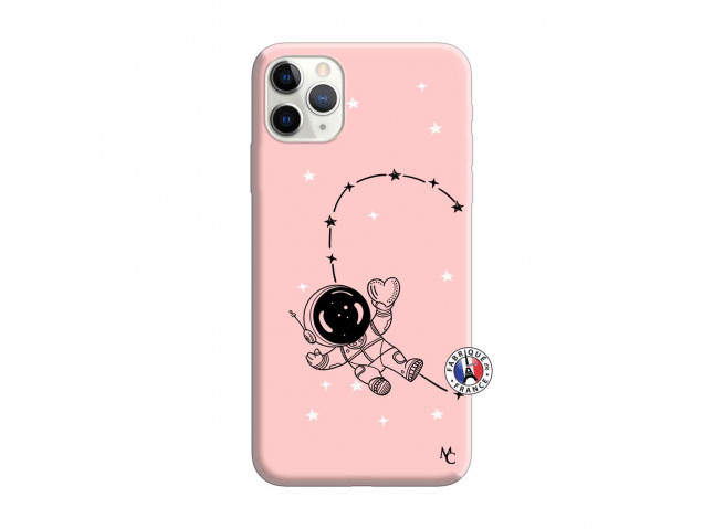 Coque iPhone 11 PRO MAX Astro Girl Silicone Rose