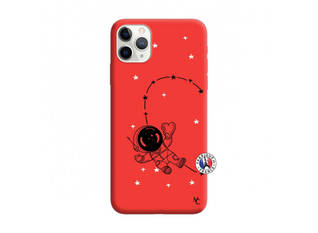 Coque iPhone 11 PRO MAX Astro Girl Silicone Rouge