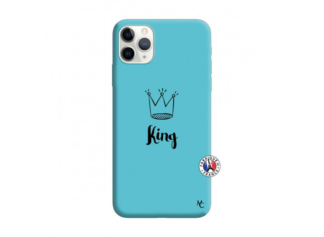 Coque iPhone 11 PRO MAX King Silicone Bleu