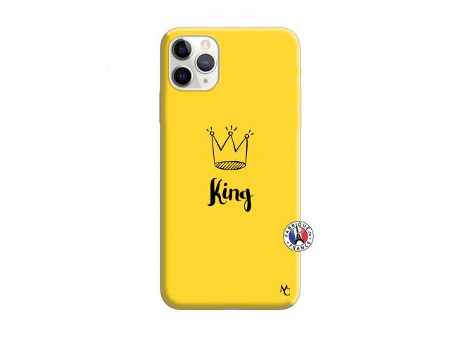 Coque iPhone 11 PRO MAX King Silicone Jaune