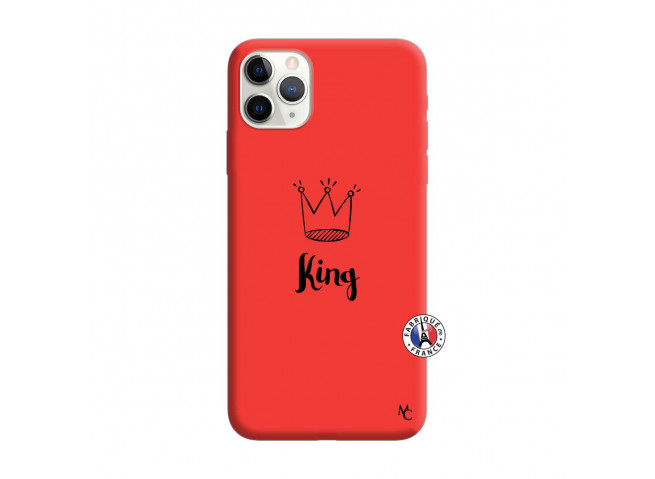 Coque iPhone 11 PRO MAX King Silicone Rouge