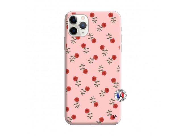 Coque iPhone 11 PRO MAX Rose Pattern Silicone Rose