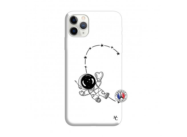 Coque iPhone 11 PRO Astro Girl Silicone Blanc