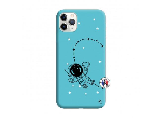 Coque iPhone 11 PRO Astro Girl Silicone Bleu
