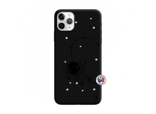 Coque iPhone 11 PRO Astro Girl Silicone Noir