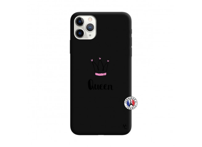 Coque iPhone 11 PRO Queen Silicone Noir