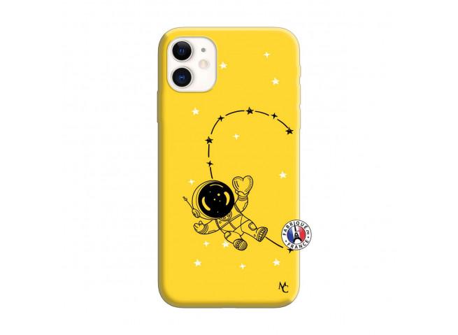Coque iPhone 11 Astro Girl Silicone Jaune