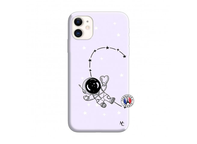 Coque iPhone 11 Astro Girl Silicone Lilas