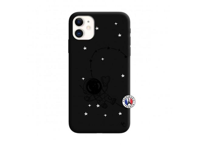Coque iPhone 11 Astro Girl Silicone Noir