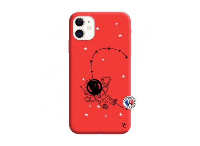Coque iPhone 11 Astro Girl Silicone Rouge