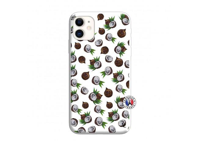 Coque iPhone 11 Coco Silicone Blanc