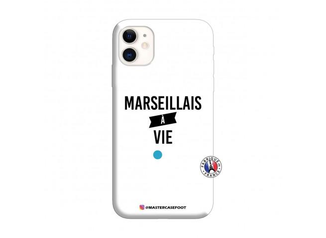 Coque iPhone 11 Marseillais à Vie Silicone Blanc