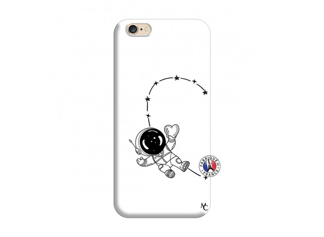 Coque iPhone 6/6S Astro Girl Silicone Blanc
