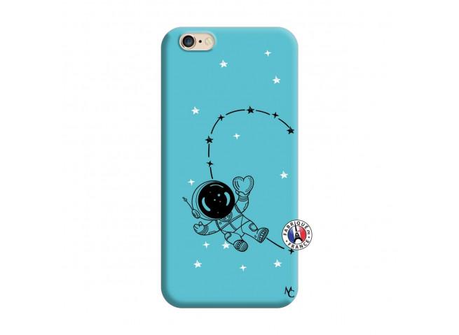 Coque iPhone 6/6S Astro Girl Silicone Bleu