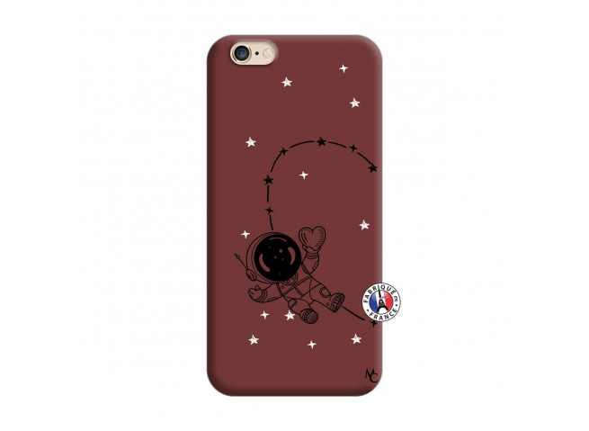 Coque iPhone 6/6S Astro Girl Silicone Bordeaux