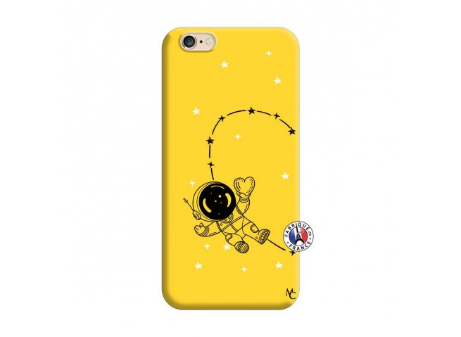 Coque iPhone 6/6S Astro Girl Silicone Jaune