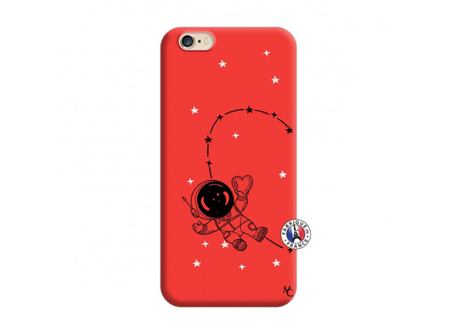 Coque iPhone 6/6S Astro Girl Silicone Rouge