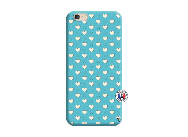 Coque iPhone 6/6S Little Hearts Silicone Bleu