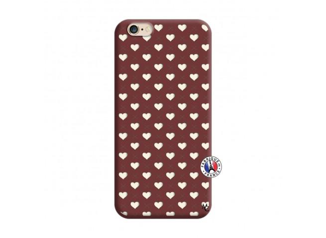 Coque iPhone 6/6S Little Hearts Silicone Bordeaux