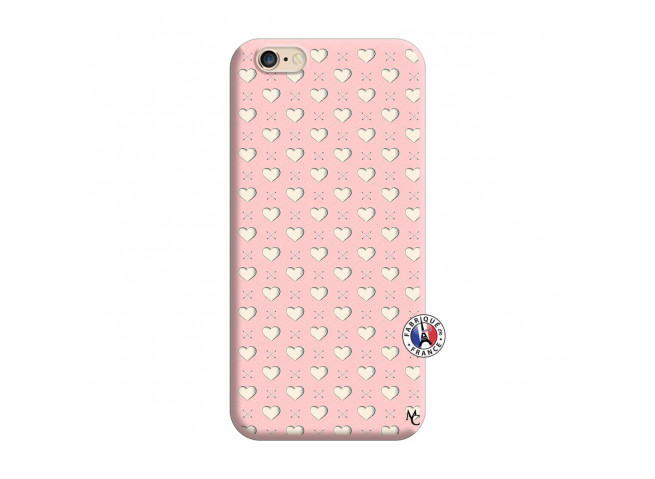 Coque iPhone 6/6S Little Hearts Silicone Rose