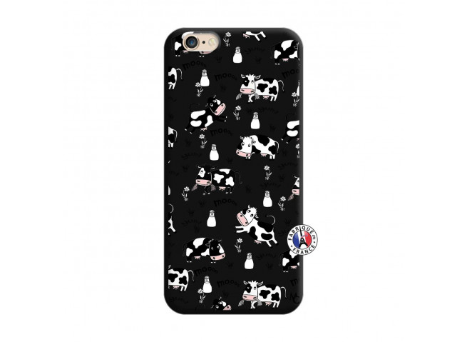 Coque iPhone 6/6S Cow Pattern Silicone Noir